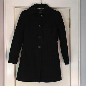 Banana Republic Black mid-length dress coat